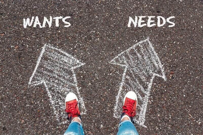 perbedaan antara kebutuhan dan keinginan